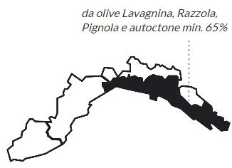 Mappa DOP Riviera di Levante